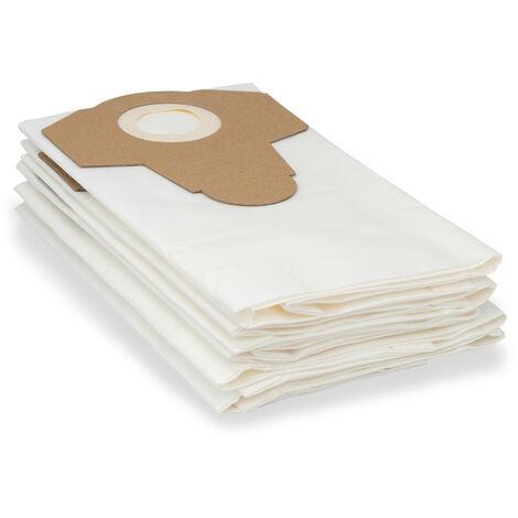 Bolsa filtrante de vellón para polvo fino, paquete de 5, adecuada para el limpiador multiusos serie WD 3 de Kärcher, p. B. WD 3 Battery Premium Set y mucho más