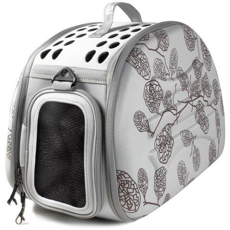Bolsa plegable para perros y gatos De Luxe con cremallera, asa y bandolera