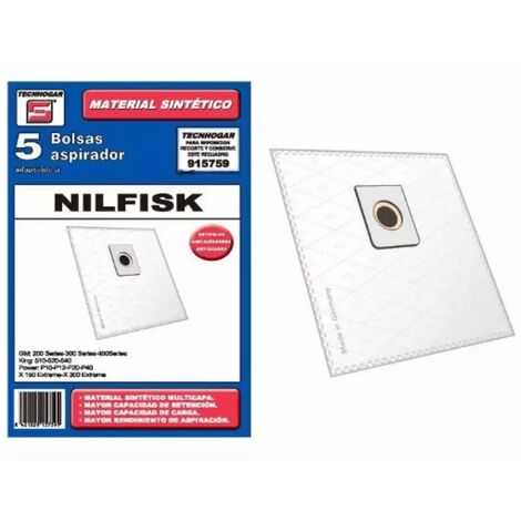 Bolsa sintetica aspirador Nilfisk Elite 5 UNIDADES 915759