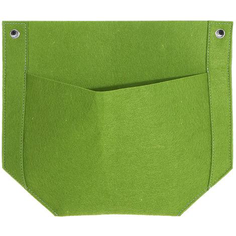 Bolsas de cultivo colgantes de fieltro, Jardinera vertical de pared,Verde, 1 bolsillos