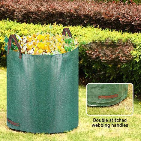Bolsas jardín Sacos Hojas Hierba Césped Basura Residuos Saco de basura de jardín 272L Jardinería Plantas Árboles