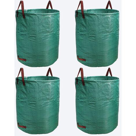 Bolsas jardín Sacos Hojas Hierba Césped Basura Residuos Saco de basura de jardín 500L Jardinería Plantas Árboles