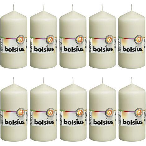 Bolsius Pillar Candles 10 pcs 120x58 mm Ivory