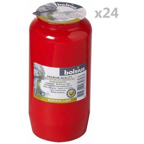 """main image of """"Bolsius Veilleuses de commémoration Compo No 7 24 pcs Rouge"""""""