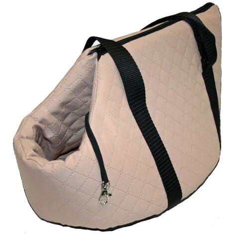 Bolso de transporte para perros | Transportín acolchado mascotas | Bolso viaje color beige para perros