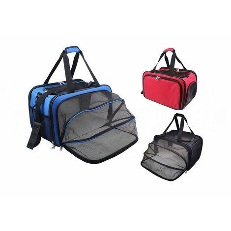 Bolso Transportín Extensible para Mascotas, Varios Colores - Negro