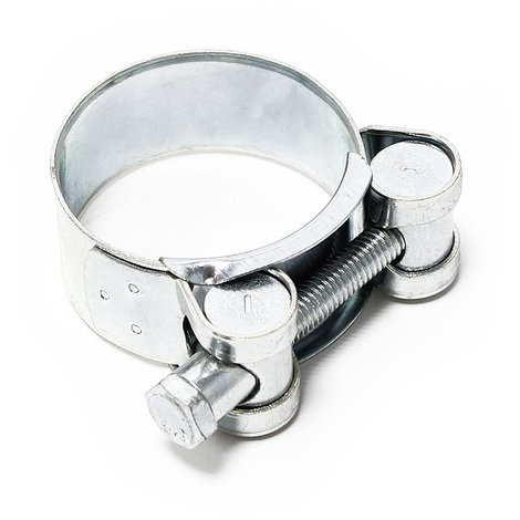 Bolt grip hose clamp W1 galvanised steel width 22mm clamping range 1.73-1.85 inch (44-47mm)