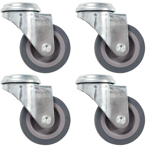 Bolt Hole Swivel Casters 4 pcs 50 mm
