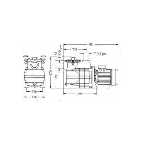 Bomba Agua Cent 0,8hp-9000l/h Autoasp Monof Bravia Quimicamp