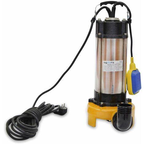 AgoraDirect - Bomba de Aguas Sucias 2200W Submergible para Agua Sucia 500L/m Con Trituradora