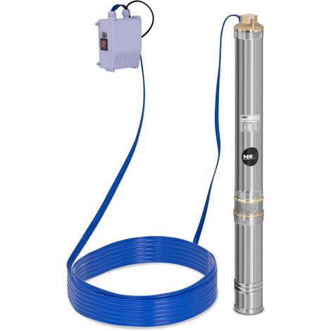 Bomba de agua sumergible - 3.800 L/h - 250 W - Acero inoxidable