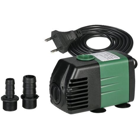 Bomba de agua sumergible, para fuentes de mesa de acuario, con 2 boquillas, AC220-240V, 1500L/H 25W
