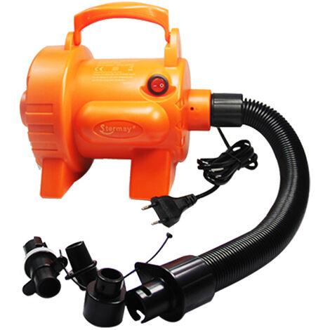 Bomba de aire electrica de 800 W con 4 boquillas de llenado rapido de la bomba de aire para el colchon de aire de natacion Camas de aire Anillos balsas inflables sofas enchufe de la UE