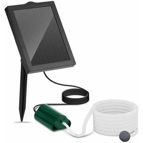 Bomba De Aire Solar Para Estanque Acuario Agua Oxigenador Aireador 120 L/H 1,2 W