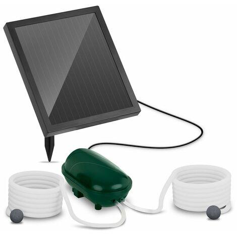 Bomba De Aire Solar Para Estanque Acuario Agua Oxigenador Aireador 200 L/H 1,35W