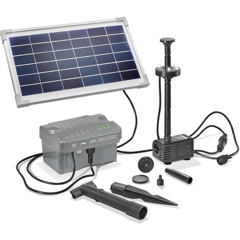 """main image of """"Bomba de estanque solar de 8W y 300l/h LED de jardín esotec 101923"""""""