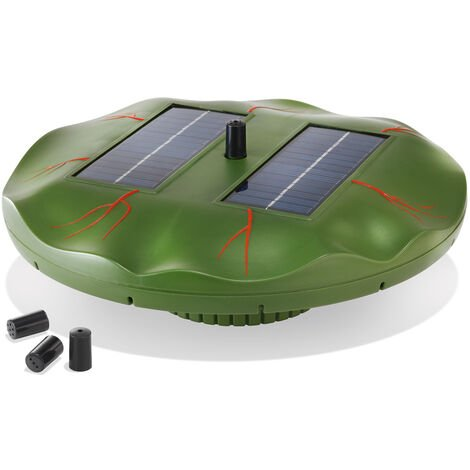 "main image of ""Bomba de estanque solar flotante de nenúfar para jardín esotec 101770"""