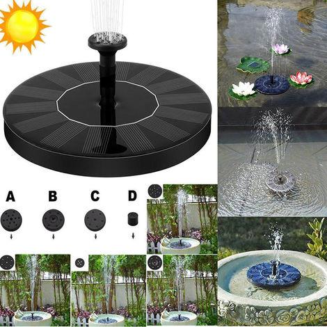 Bomba de fuente solar flotante Fuente bano del pejaro Bomba de agua, para el jardin Patio Pond