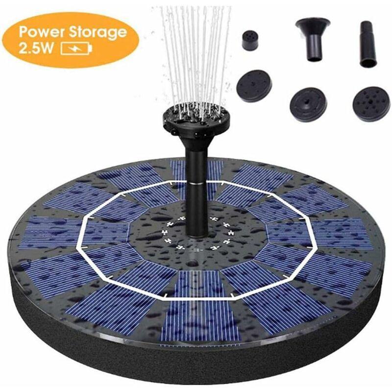 Bomba de fuente solar bomba de fuente de agua de energía solar de 2,5 W con batería de respaldo de 400 mAh para pileta, estanque, estanque, jardín y