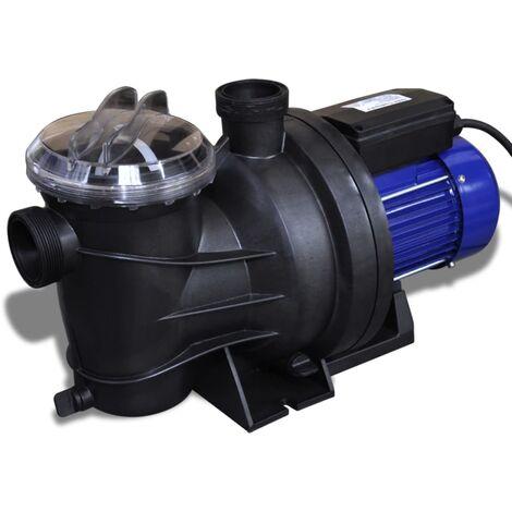 Bomba de piscina eléctrica 1200 W azul