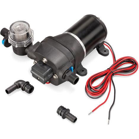 Bomba de presión con membrana, de 12V y autoaspirante a 750l/h, bomba de agua para la irrigación 100810