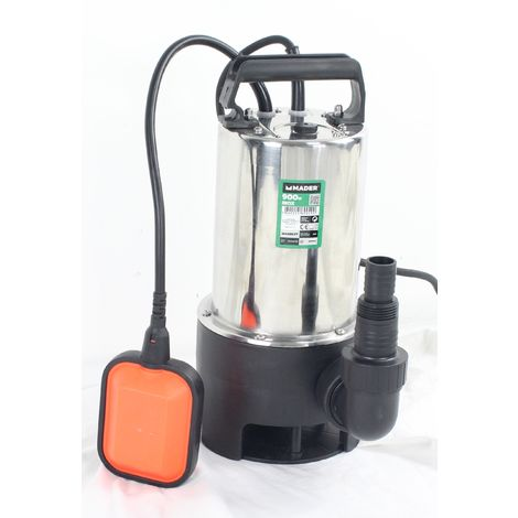 Bomba Drenaje, Inox, 900W, 17000L/h - MADER | Garden Tools