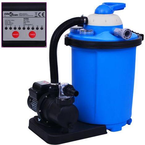 Bomba filtro de arena con temporizador 550 W 50 L