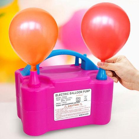 Bomba infladora con globo eléctrico Dos boquillas Soplador de aire portátil