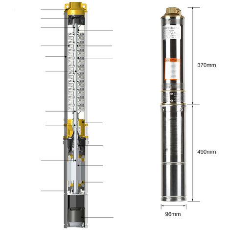 """main image of """"Bomba para pozos profundos Bomba sumergible Electrobomba 750 W"""""""