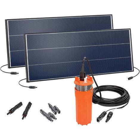 Bomba solar de pozo profundo de 30m altura de extracción y panel solar de 150W para bomba de agua de jardín 100820