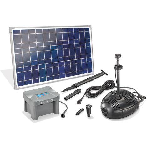 Bomba solar para estanques con batería recargable de 35W de jardín esotec 101726