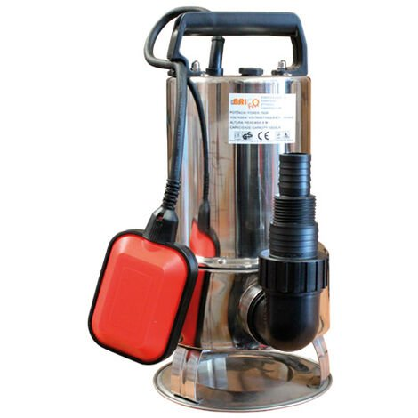 Bomba sumergible aguas sucias inox 750w con conexión universal