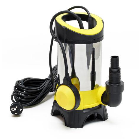 Bomba sumergible para aguas residuales 15000l/h, 1100W, altura 11m, partículas hasta Ø35mm