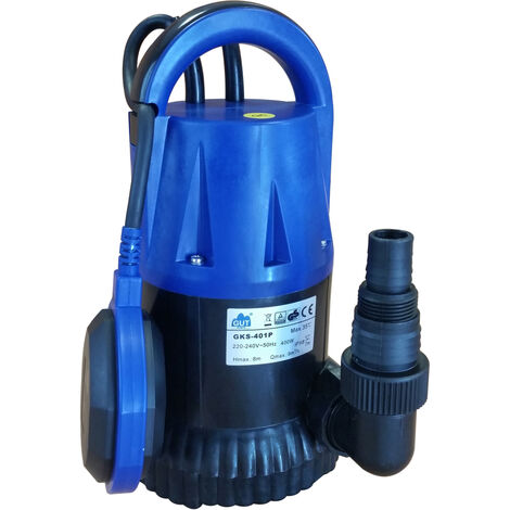 Bomba sumergible para drenaje y aguas residuales 750W GUT GGKS751P - Monofásico