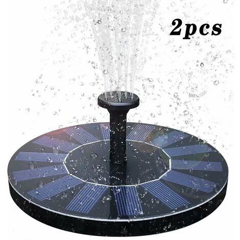 Bombas de fuente solar, fuente solar de jardín con panel solar monocristalino de 1.4W para estanque o fuente de jardín - 2 piezas
