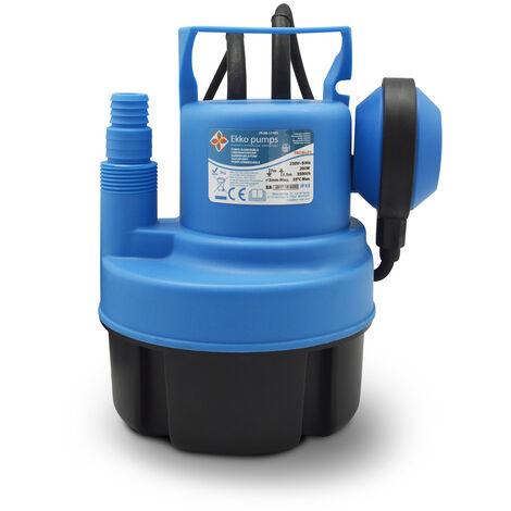BOMBAS EKKO PAC80-P1 - Bomba sumergible para agua limpia 200W con flotador, caudal m�ximo 3500 litros / hora