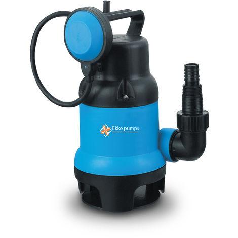 BOMBAS EKKO PAS400-P1 - Bomba sumergible para agua sucia 400W con flotador, caudal máximo 7500 litros / hora