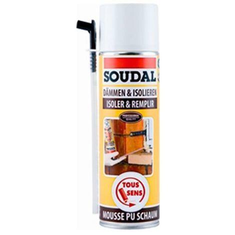 Bombe de mousse polyuréthane 500 ML DIY - 101345 - Soudal - Autre -