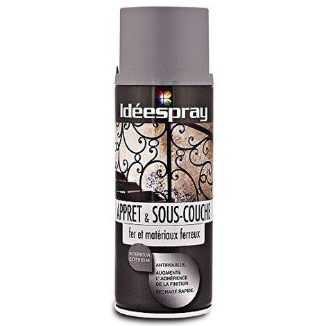 Bombe de peinture Antirouille Gris - Sous-couche Fer et matériaux ferreux