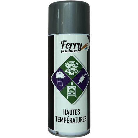 Bombe de peinture Argent Haute température