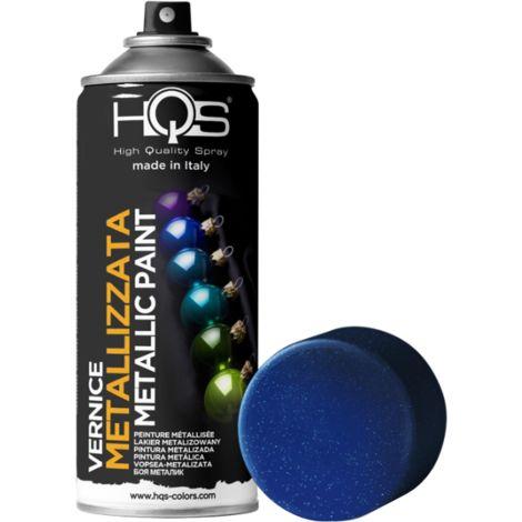 Bombe de peinture bleu métallise
