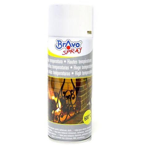 Bombe de peinture haute température - BLANC MAT