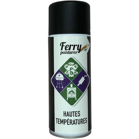 Bombe de peinture Noir Haute température