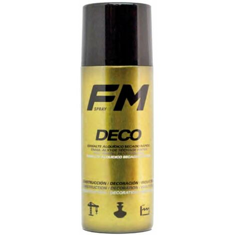 Bombe de peinture spray déco dorée 400ml