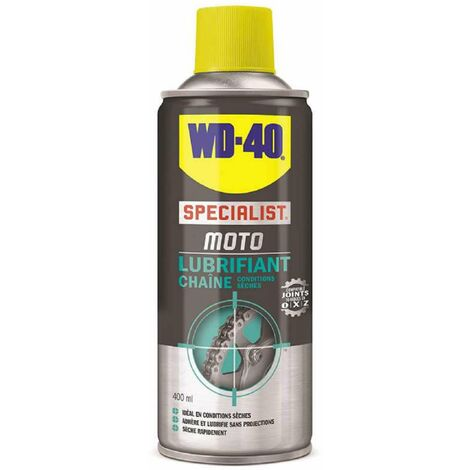 Bombe lubrifiant chaîne moto 400ml