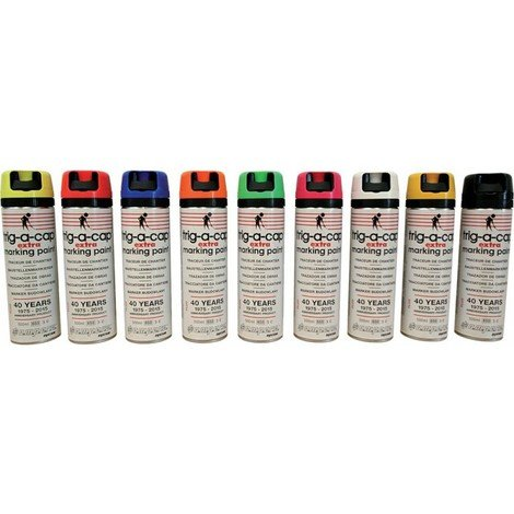 Bombe marquage chantier t-a-c extra 500ml rouge fluo (Par 12)