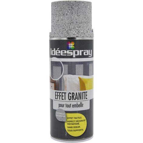 Bombe peinture effet granit clair