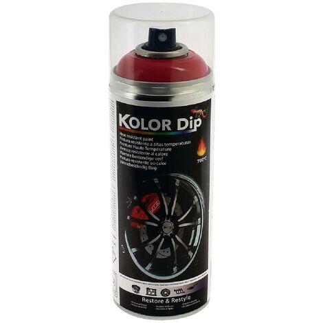 Bombe peinture etrier rouge resistante a la chaleur KolorDip