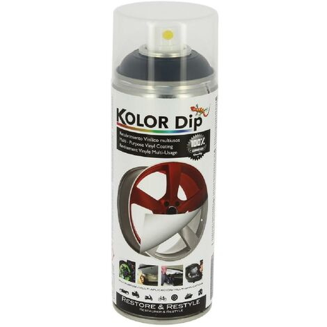Bombe peinture finition noire - Spray 400ml KolorDip