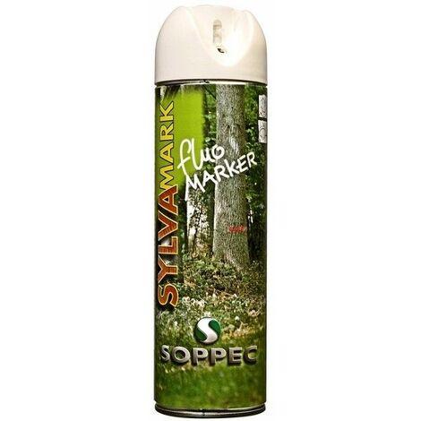 Bombe peinture forestiere blanc